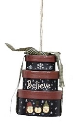 """Christmas Ornaments - """"Snowman Stacked Box Ornament"""""""
