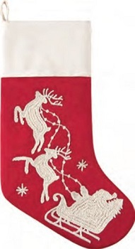 "Christmas Stocking - ""Flying Sleigh Stocking"""
