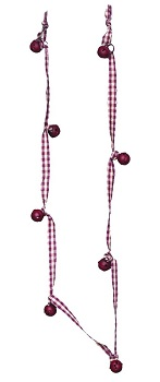 "Christmas Tree Garland - ""Mini Bells Garland"" - 4 ft"
