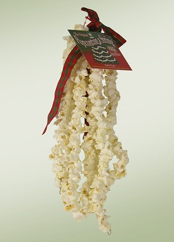"Christmas Tree Garland - ""Popcorn Garland"" - 9 ft"