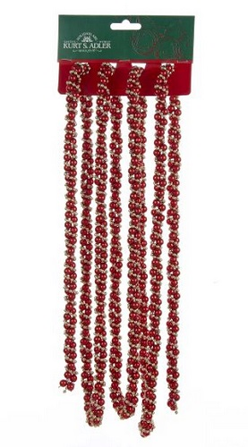 Christmas Tree Garland - Red/Gold Twist Garland - 9ft