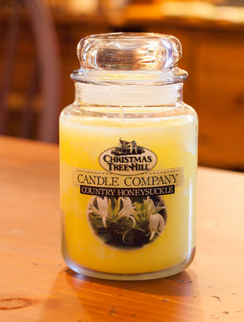 "Christmas Tree Hill Fragranced Candle - 22 oz. Jar - ""Country Honeysuckle"""