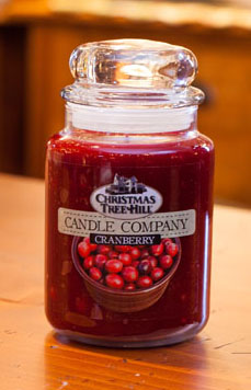 "Christmas Tree Hill Fragranced Candle - 22 oz. Jar - ""Cranberry"""