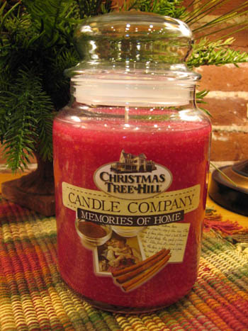 "Christmas Tree Hill Fragranced Candle - 22 oz. Jar - ""Memories of Home"""