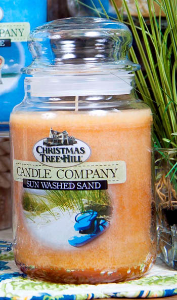 "Christmas Tree Hill Fragranced Candle - 22 oz. Jar - ""Sun Washed Sand"""