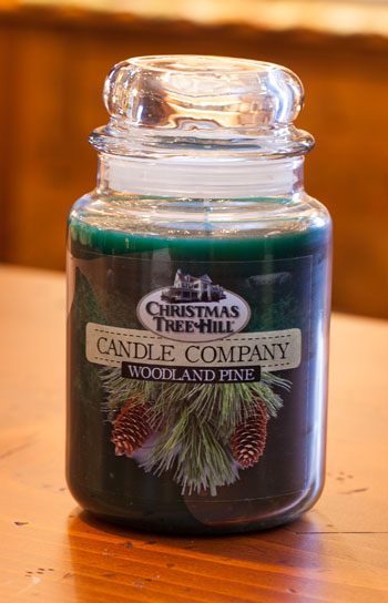 "Christmas Tree Hill Fragranced Candle - 22 oz. Jar - ""Woodland Pine"""