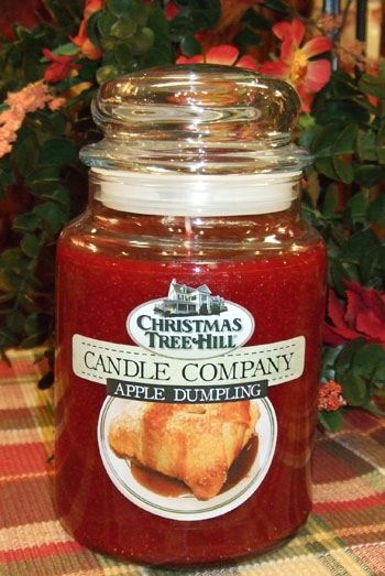 "Christmas Tree Hill Fragranced Candle - 22 oz. Jar - ""Apple Dumpling"""