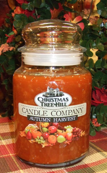 "Christmas Tree Hill Fragranced Candle - 22 oz. Jar - ""Autumn Harvest"""