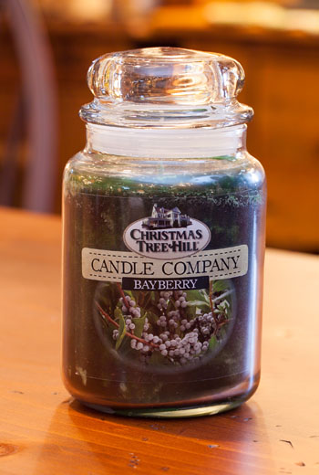 """Christmas Tree Hill Fragranced Candle - 22 oz. Jar - """"Bayberry"""""""