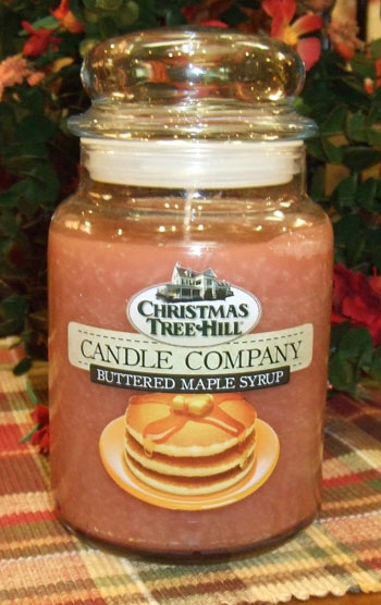 "Christmas Tree Hill Fragranced Candle - 22 oz. Jar - ""Buttered Maple Syrup"""