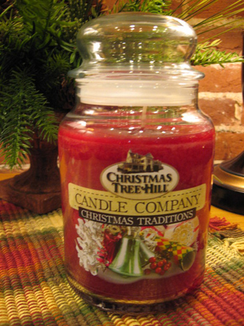 "Christmas Tree Hill Fragranced Candle - 22 oz. Jar - ""Christmas Traditions"""