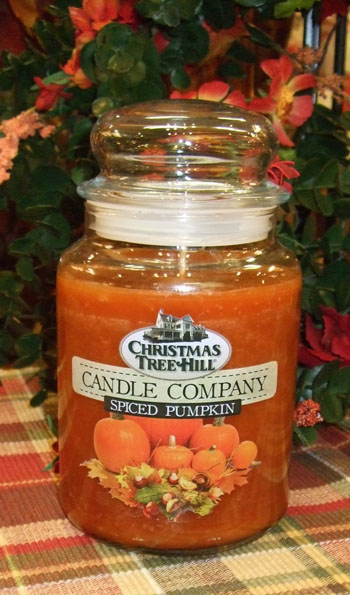 "Christmas Tree Hill Fragranced Candle - 22 oz. Jar - ""Spiced Pumpkin"""