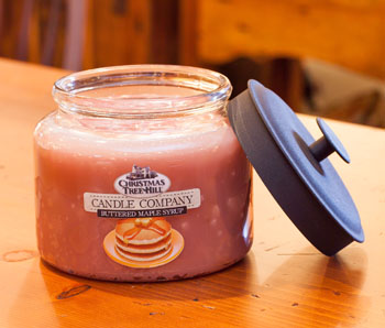 "Christmas Tree Hill Fragranced Candle - 64 oz. Jar with Metal Lid - ""Buttered Maple Syrup"""