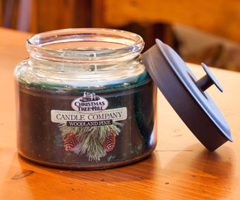 "Christmas Tree Hill Fragranced Candle - 64 oz. Jar with Metal Lid - ""Woodland Pine"""