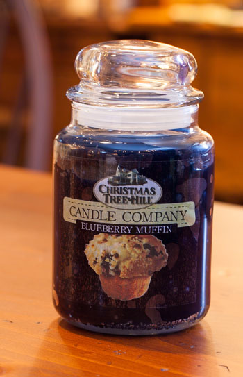 "Christmas Tree Hill Fragranced Candle - 22 oz. Jar - ""Blueberry Muffin"""
