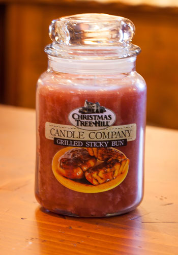 "Christmas Tree Hill Fragranced Candle - 22 oz. Jar - ""Grilled Sticky Bun"""
