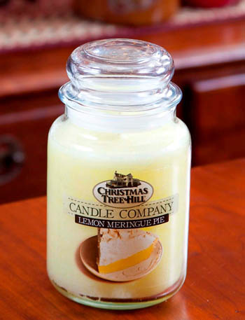 "Christmas Tree Hill Fragranced Candle - 22 oz. Jar - ""Lemon Meringue Pie"""