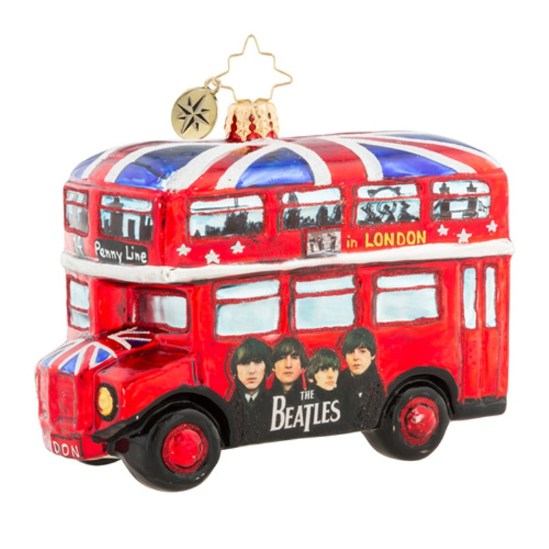 Christopher Radko Beatles Glass Ornament - The British Invasion 2018