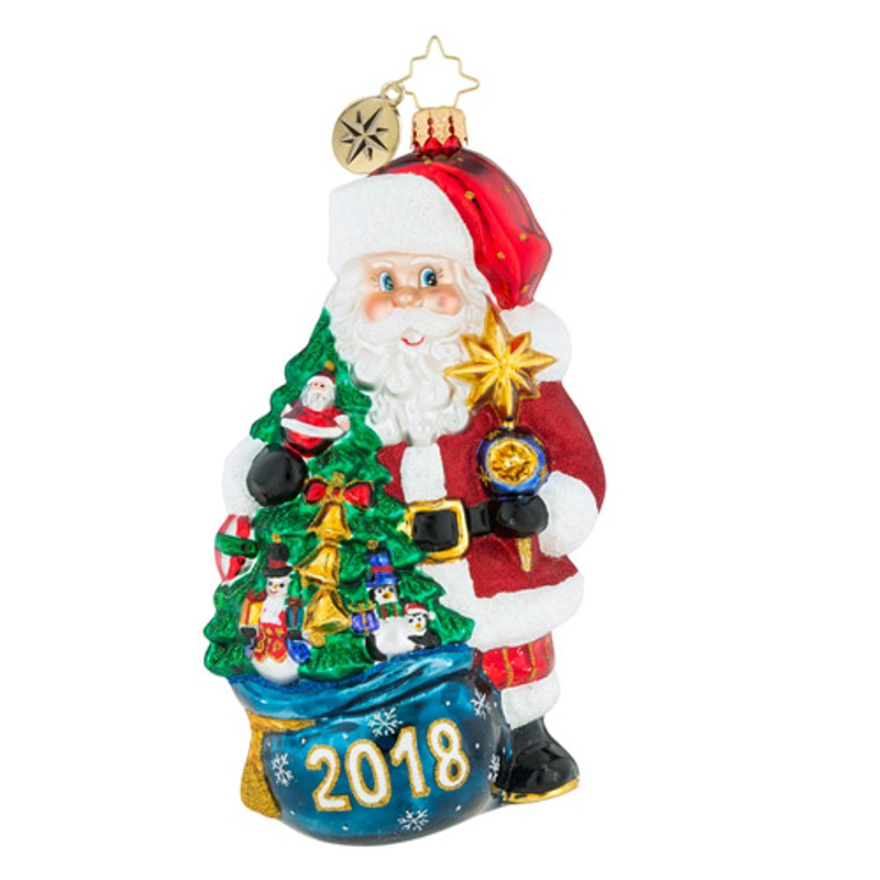 Christopher Radko Glass Ornament - 2018 Is In The Bag