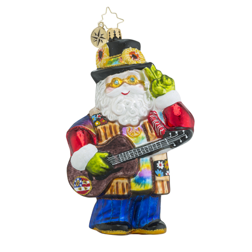 """Christopher Radko Glass Ornament - """"A Claus For Peace"""""""