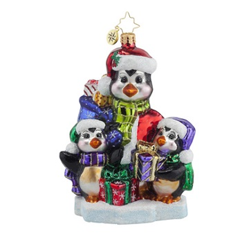 "Christopher Radko Glass Ornament - ""A Gift For Everyone"""