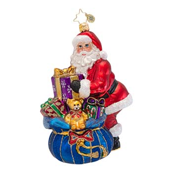 """Christopher Radko Glass Ornament - """"A Gift For You Ornament"""""""