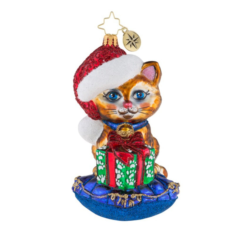 Christopher Radko Glass Ornament - A Little Coy Kitty 2018