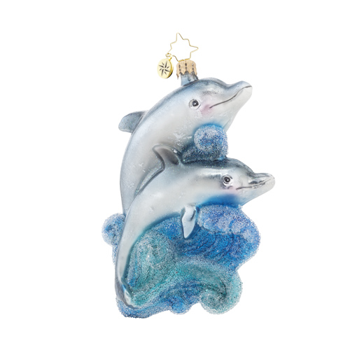 "Christopher Radko Glass Ornament - ""A Playful Pair"""