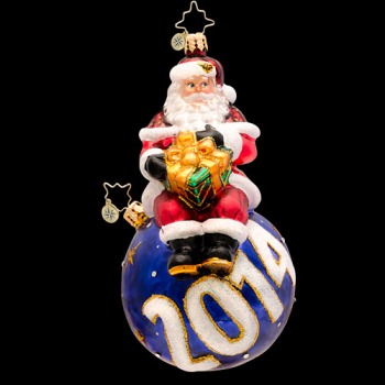 """Christopher Radko Glass Ornament - """"A Year For The Cheer - 2014"""""""