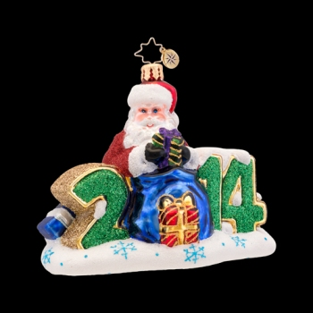 "Christopher Radko Glass Ornament - ""A Year To Give - 2014"""