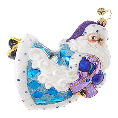 Christopher Radko Glass Ornament � Alzheimer's St. Nicholas - Charity
