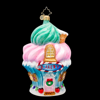 """Christopher Radko Glass Ornament - """"Baked To Perfection Ornament"""""""