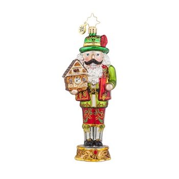 "Christopher Radko Glass Ornament - ""Bavarian Cracker"""