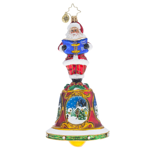 "Christopher Radko Glass Ornament - ""Bells Will Be Ringing"""