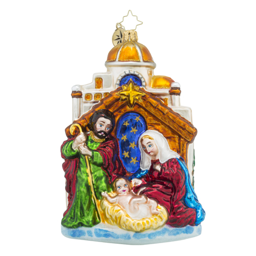 "Christopher Radko Glass Ornament - ""Blessed Gift"""