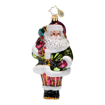 "Christopher Radko Glass Ornament  -  Brilliant Treasures Collection  - ""Greensleeves Ornament"""