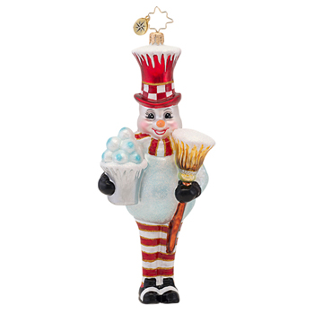 "Christopher Radko Glass Ornament - ""Bucket Of Fun Frosty Ornament"""