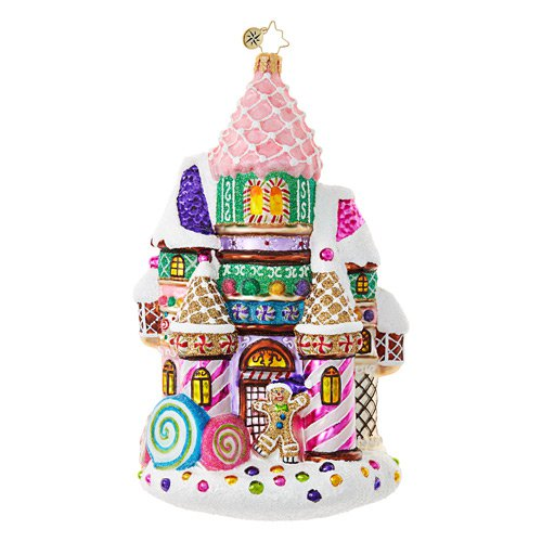 "Christopher Radko Glass Ornament - ""Candy Castle Christmas"""