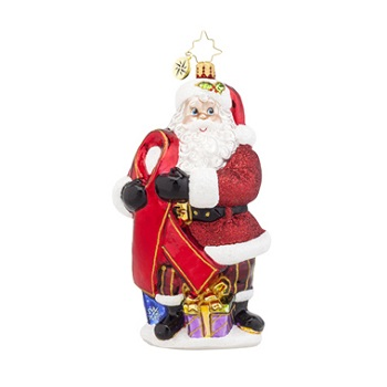 "Christopher Radko Glass Ornament - ""Caring Claus"""