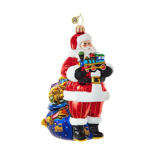 "Christopher Radko Glass Ornament - ""Choo Choo Santa"""