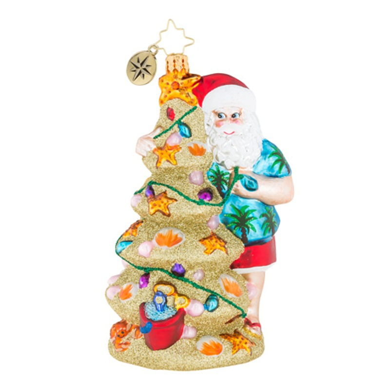 Christopher Radko Glass Ornament - Christmas In The Sand 2018