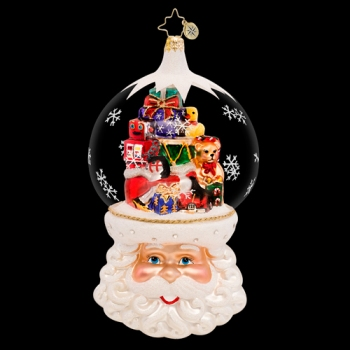 "Christopher Radko Glass Ornament - ""Christmas On My Mind"""