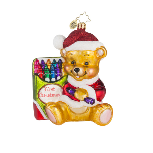 "Christopher Radko Glass Ornament - ""Color Me Cute"""
