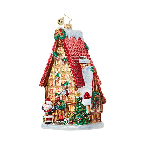 "Christopher Radko Glass Ornament - ""Countdown Cottage"""