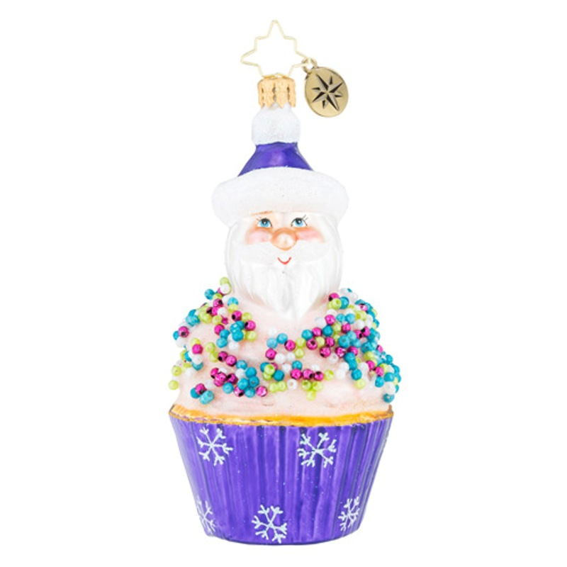 Christopher Radko Glass Ornament - Cupcake Sprinkle Kringle 2018