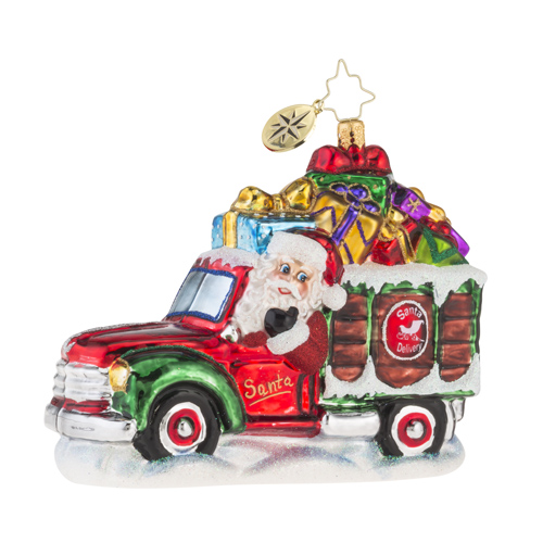 "Christopher Radko Glass Ornament - ""December Delivery"""
