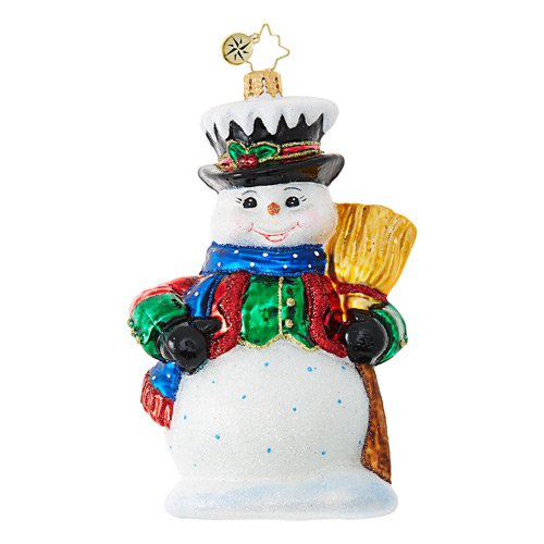 "Christopher Radko Glass Ornament - ""Dickensian Snowman"""