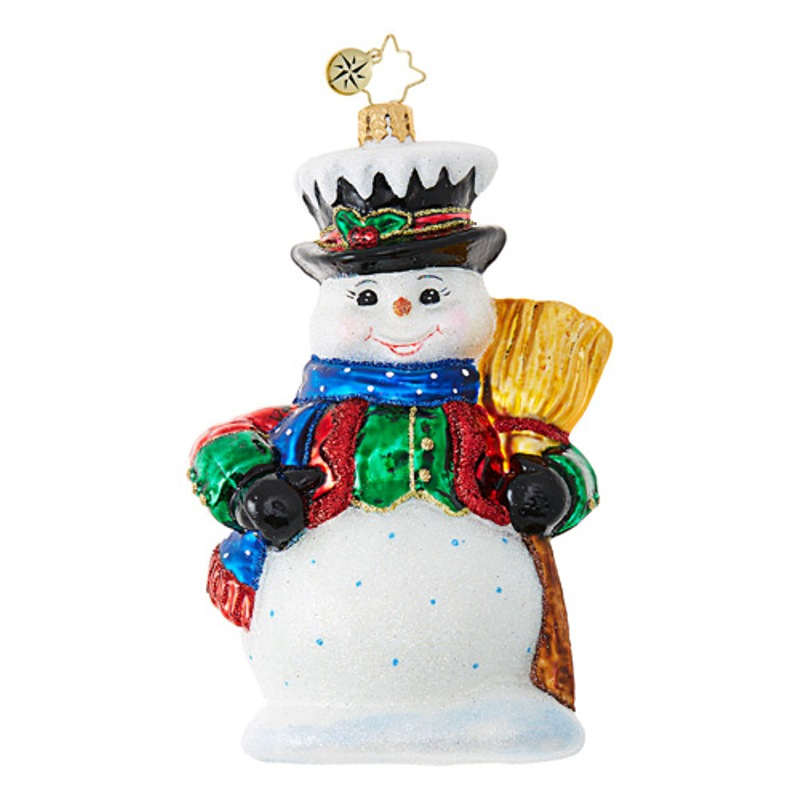 Christopher Radko Glass Ornament - Dickensian Snowman