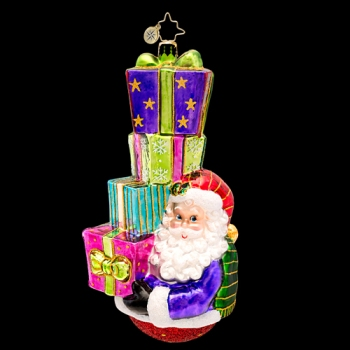 "Christopher Radko Glass Ornament - ""Double The Joy, Double the Fun"""
