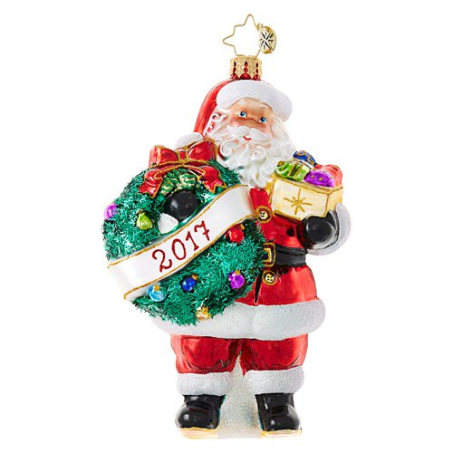 Christopher Radko Glass Ornament - Embrace the Year Santa 2017